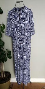 NWPT Leota sz 3X Maxi dress geometric print